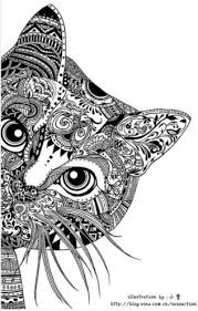 tabby cat coloring pages dreamy cat art print zentangle cat doodle and doodles