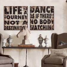 Home Letters Decoration 2 Panel Vintage Writing The Letters Canvas Wall Art Modern Home