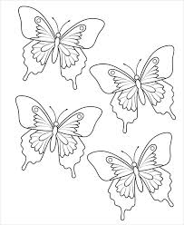 9 butterfly patterns psd vector eps png format