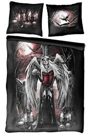 tattoo bedding queen angel of death double gothic bedding set uk pillows skull bedroom