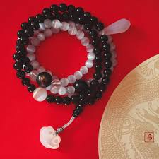 black onyx beads bracelet images Yin yang black onyx and cats eye 108 beads bracelet necklace jpg