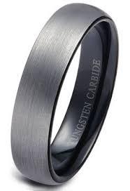 Mens Wedding Rings Tungsten by Tungsten Wedding Band Ring 4mm For Men Women Black U0026 18k Rose Gold