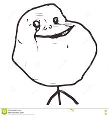 Alone Meme - vector forever alone guy meme face for any design eps 10 stock
