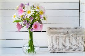 artificial flowers in vase flower bouquet bellflower rustic