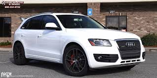 audi q5 rims and tires audi q5 niche enyo m115 wheels black brushed with tint