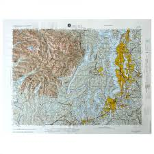 Topographic Map Seattle Nl102 Seattle Raised Relief Map