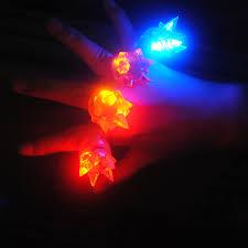 led light up toys wholesale 2018 costume leds led 25pcs lot finger ring toys colorful cheap