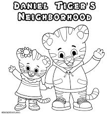 daniel tiger coloring pages coloring pages glum