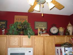 Kitchen Oak Cabinets Red Kitchen Walls With Oak Cabinets Home Design Inspirations