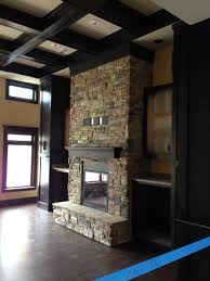 bookcase wall small tiles and tile fireplace on pinterest idolza