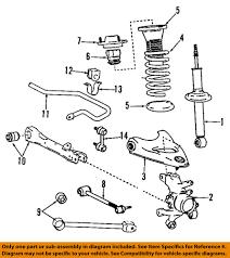 lexus is300 evaporator lexus toyota oem 01 03 is300 rear suspension strut 4853059545 ebay