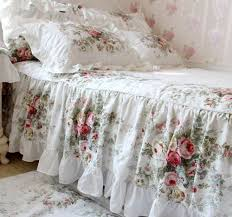 Shabby Chic Skirts by Shabby Chic Simple Ruffled Bed Cover With A Built In Bed Skirt