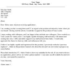 best cover letter examples for team leader position 55 with