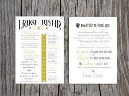 Thank Yous On Wedding Programs Printable Front And Back Wedding Program And Thank You