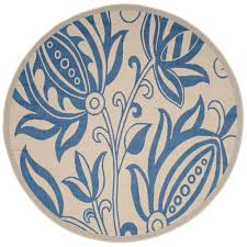 Blue And White Outdoor Rug Safavieh Courtyard Natural Blue 6 Ft 7 In X 6 Ft 7 In Indoor