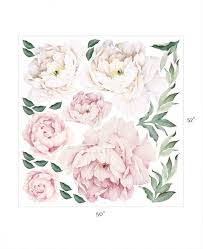 peony flowers peony flowers wall sticker watercolor peony wall stickers peel