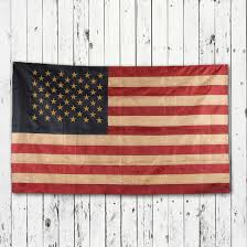 American Flag Home Decor Primitive Tea Dyed American Flag Americana Decor Home Decor
