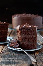 epic chocolate stout cake with chocolate bourbon sour cream