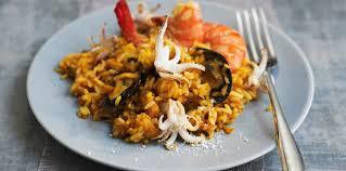 riz aux fruits de mer express facile recette sur cuisine actuelle