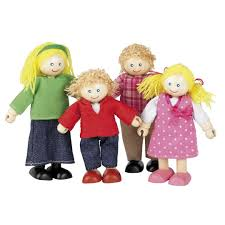 wooden dolls house family 4 figures by tidlo t 0126 toys