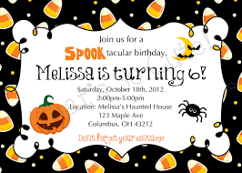 Kid Halloween Birthday Party Ideas by Halloween Birthday Invites Iidaemilia Com