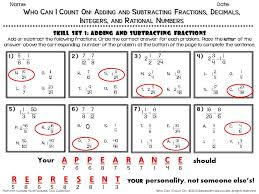 fun math worksheet answer key sample from adding and subtracting