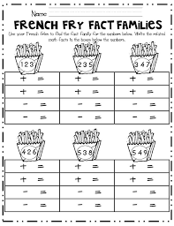 first grade fact family worksheets activity shelter