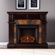 cartwright espresso convertible electric fireplace mantel package