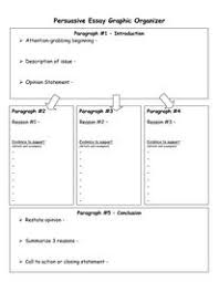 free persuasive essay organizer teaching ideas pinterest