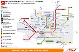 Metro La Map Network Map Atm Azienda Trasporti Milanesi