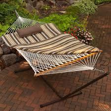 algoma 11 ft cotton hammock metal stand set walmart com