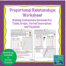 proportional relationship worksheets students are asked to