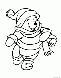 winnie the pooh winter coloring pages eson me