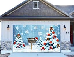 christmas garage door covers 3d banners holiday outside