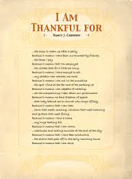 i am thankful for poem a thankful wise words