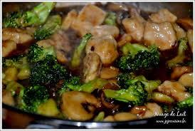 cuisiner brocolis a la poele poulet au brocoli et chignons nuage de lait