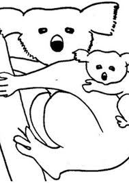 mother koala and baby koala coloring pages coloring pages