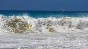 Sand Beach by Magic Sands Beach Winter Waves Kailua Kona Hawaii Youtube