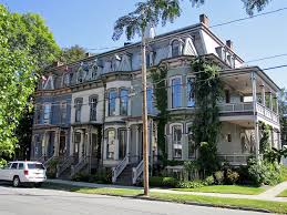 block of victorian row houses saratoga springs new york flickr