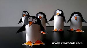 toilet paper roll penguin craft project for kids youtube