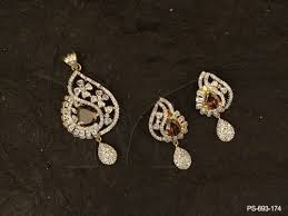 simple diamond sets simple gold pendant set designs gemstone ad pendant sets manek ratna