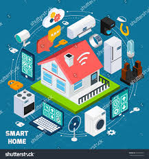 Technology Home by Smart Home Iot Internet Things Comfort Stock Vector 329520023