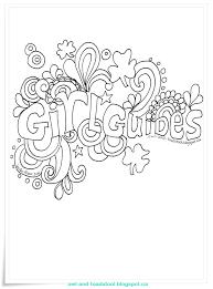 Girlguiding Flags Owl U0026 Toadstool Doodle Guides