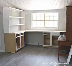 Lowes Office Desks Create Built In Shelving And Cabinets On A Tight Budget