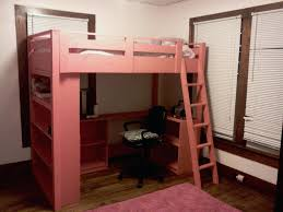 loft beds white loft bed for girls pink features desk ladder and