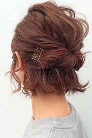 30 so cute easy hairstyles for short hair easy updo hairstyles