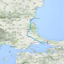 Istanbul Turkey Map 8230 Nessebar Bulgaria To Istanbul Istanbul Turkey U2013 Google