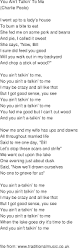 old time song lyrics you aint talkin to me