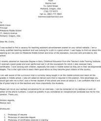 cover letter for teacher assistant position best resume gallery