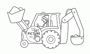 excavator coloring page for kids transportation coloring pages